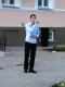 Выступает учащийся УО «Полоцкий профессионально-технический колледж» на Литературно-музыкальный вечере «Мелодыі, апаленыя вайной» в рамках «Ночи музеев» в Полоцком музее-заповеднике
